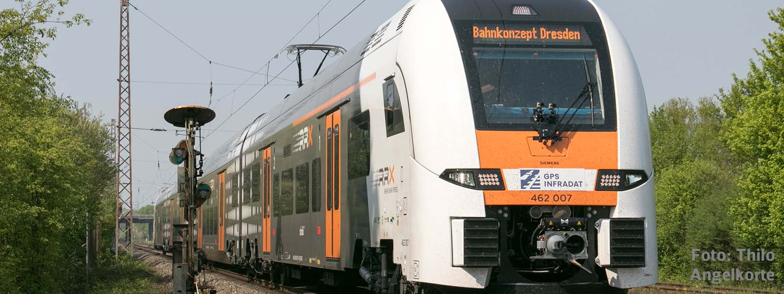 Bahnkonzept's measurement train run with Siemens Desiro HC